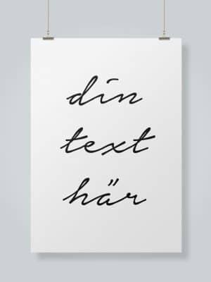 Poster Din text här
