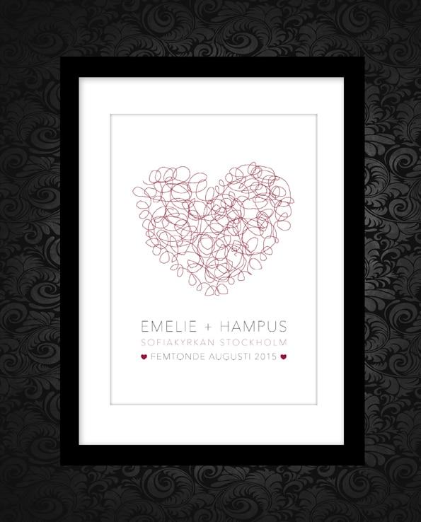 Poster Heart Wedding