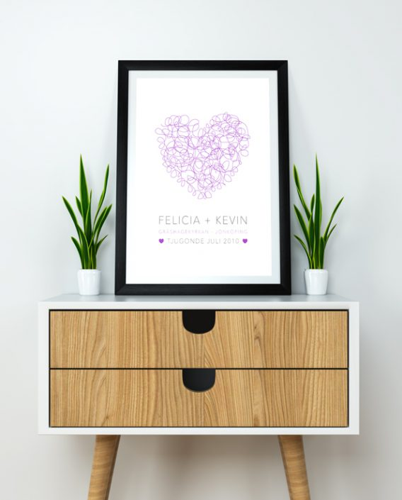 Poster Heart Wedding