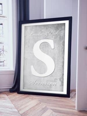 Poster Versal Familjenamn