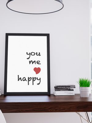 Poster you me happy