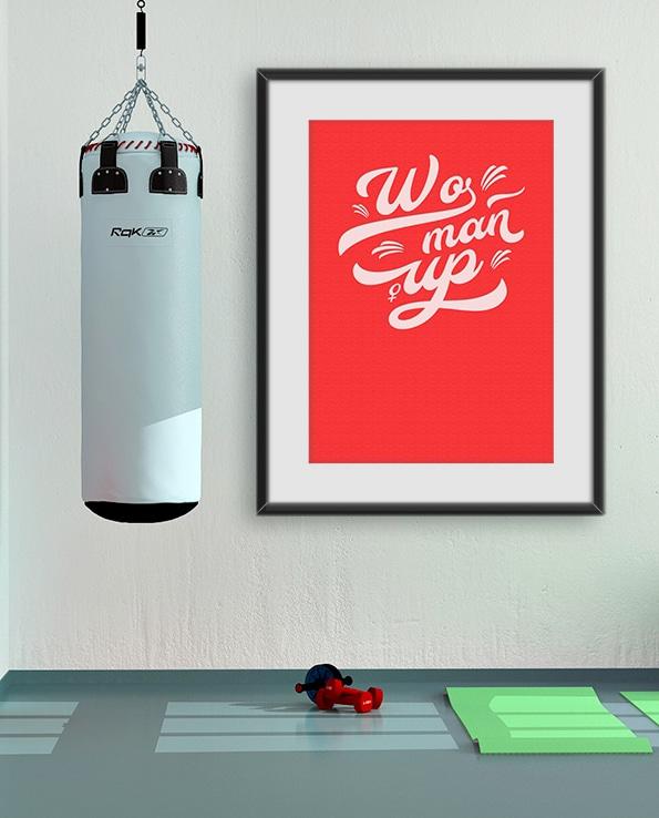 Poster Woman Up - Röd