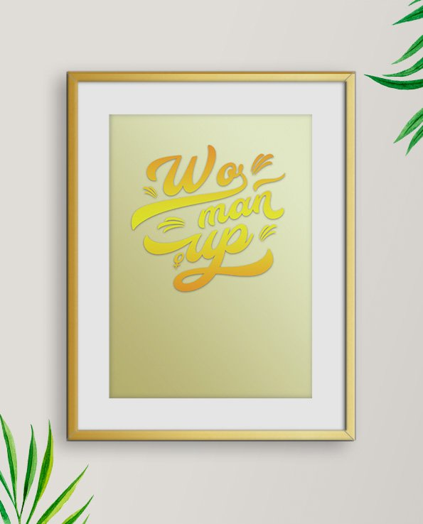 Poster Woman Up - Gul/Guld