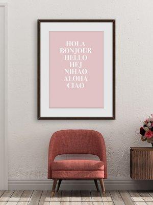 POS1076 - Poster Hola
