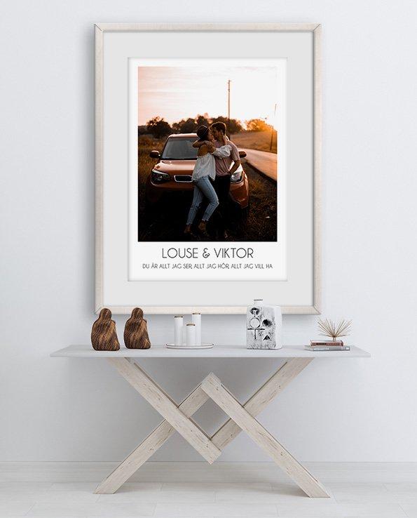 POS1077 - Poster med bild och text