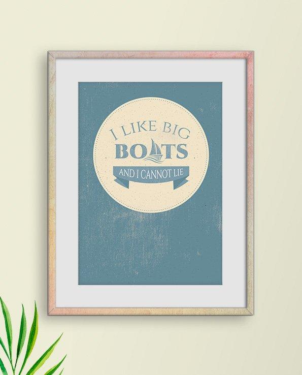 Poster Big Boats i vintagestil