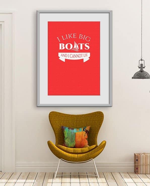 Poster Big Boats klassisk