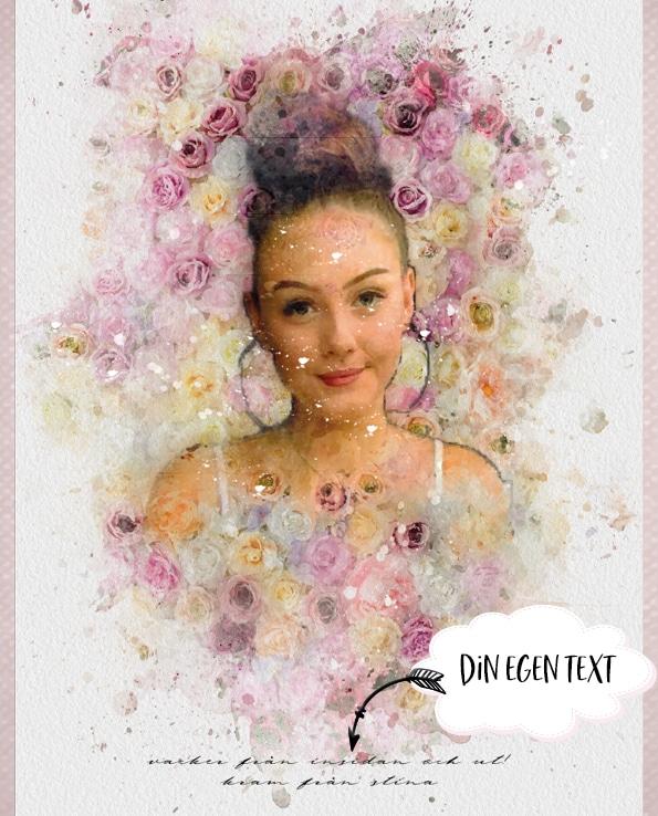 Poster Porträtt Rosor