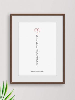 Poster Hjärta namn